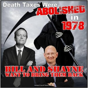 Labor death tax meme authorised by conservative independent Sandy Turner