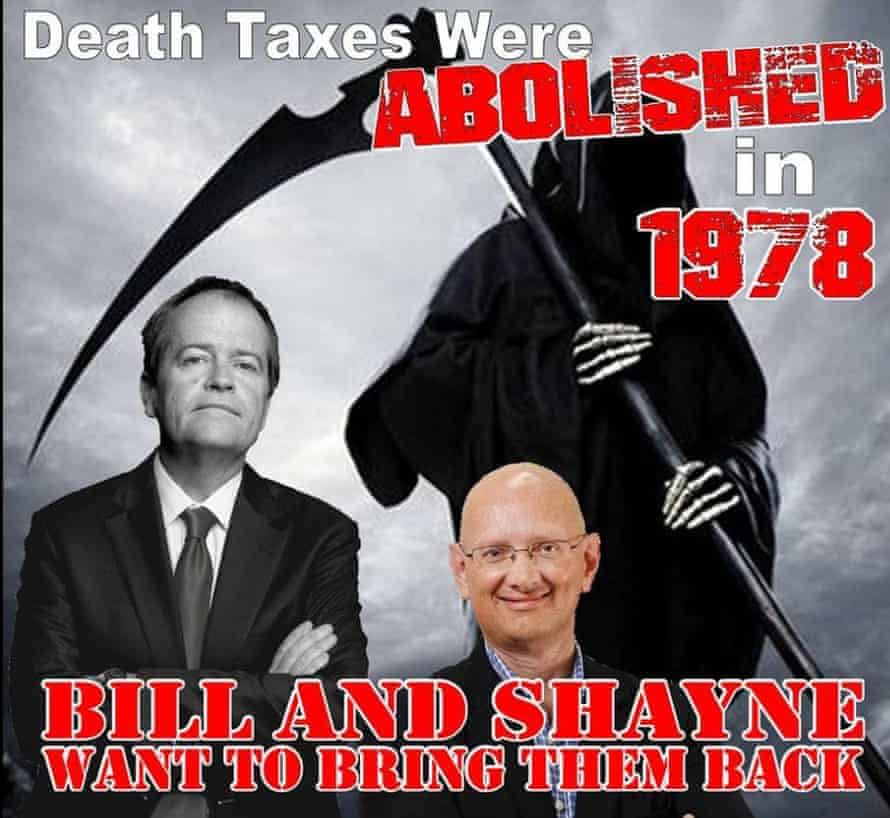 The 2019 Australian election included the entirely false claim that Labor would introduce a 40% death tax