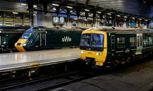 Great Western Railway trains at Paddington, London