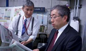 Unassuming boss Misao Sato (right)