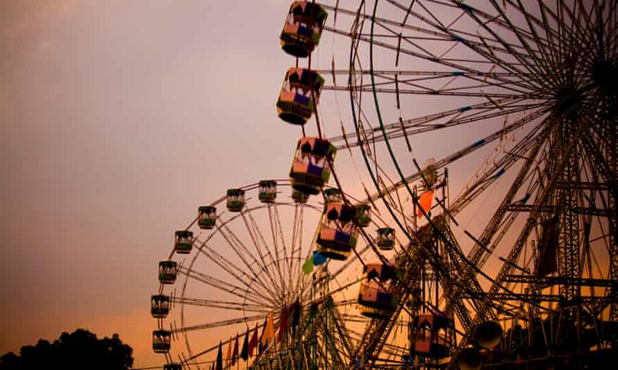 Ferris wheels at the Pushkar fair, Rajasthan, India.
