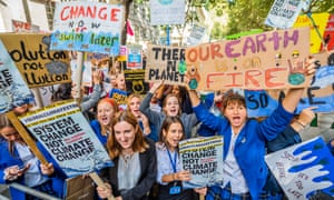 Students and pupils march in London in September to demand action on the climate crisis