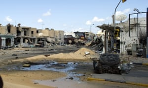 Central Misrata after heavy fighting in 2011.