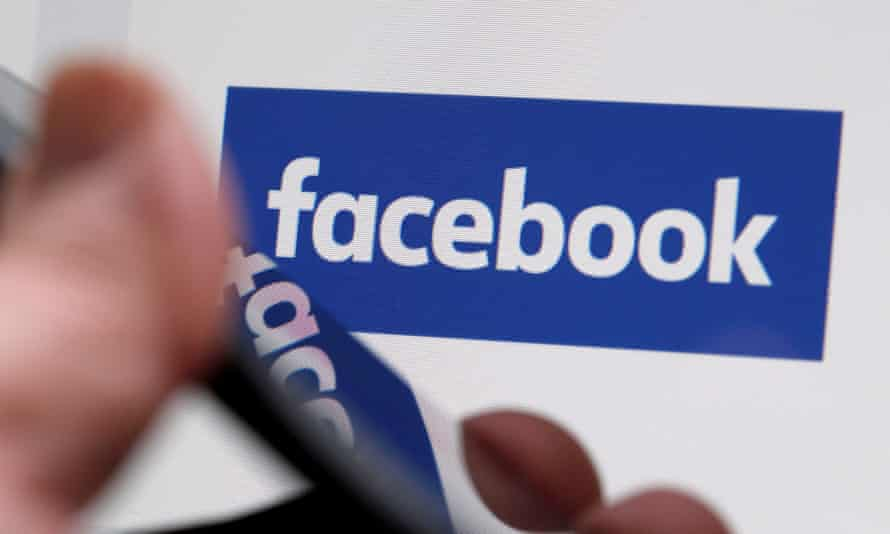 The Facebook logo is displayed on the company's website in an illustration photo taken in Bordeaux France.