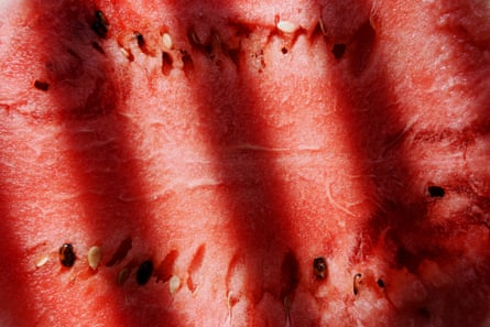 Eating a watermelon with seeds allows access to all the beautiful heirloom varieties.