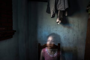 Alin Granda at her father's home in Taxco Guerrero, Mexico.