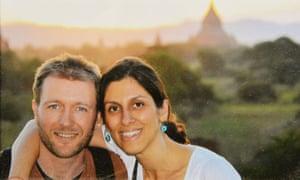 Nazanin Zaghari-Ratcliffe with her husband