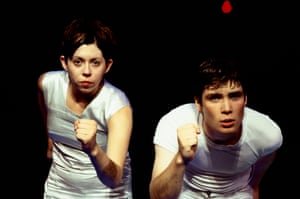Eileen Walsh and Cillian Murphy in Disco Pigs, directed by Pat Kiernan, at the Edinburgh festival fringe in 1997. It was the second original script written by Enda Walsh for the company Corcadorca.