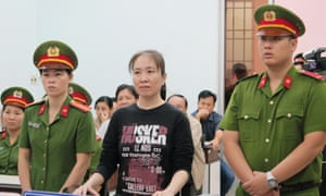 The Vietnamese blogger Nguyen Ngoc Nhu Quynh in court last year.