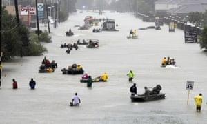 Hurricane Harvey devastated Houston, causing massive flooding in the city.