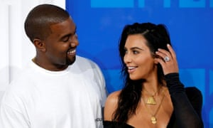 Kim Kardashian and Kanye West at the 2016 MTV Video Music awards in New York.