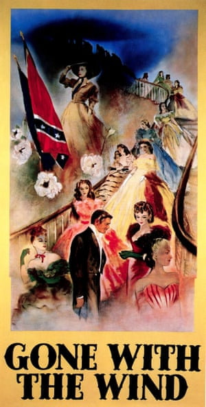 Romanticised history … a poster for Gone With the Wind, in 1939.