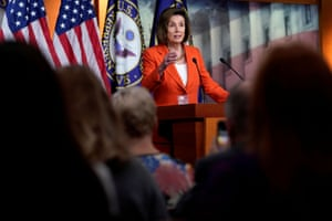 Nancy Pelosi speaks during a media briefing on Capitol Hill.