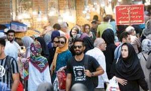 Iranians shop at Tehran's old Bazaar