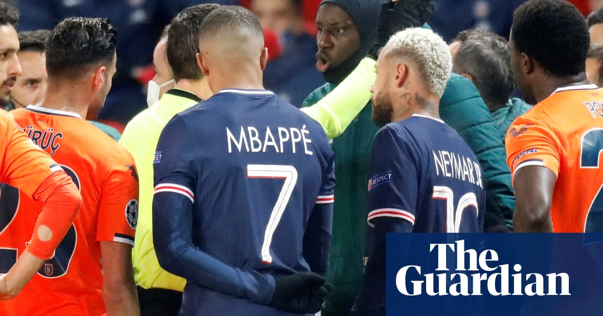 PSG v Istanbul Basaksehir suspended after fourth official accused of racism