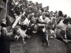 The Heysel Stadiun disaster in Brussels, Belgium, 1985