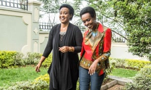 Diane Rwigara (right), a critic of Rwanda's president, and her mother Adeline Rwigara