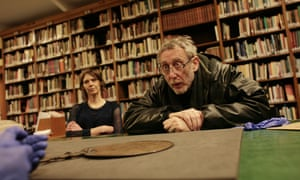 Michael Rosen, poet and storyteller, at the British Museum.