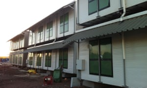 Accommodation buildings built by Canstruct at Nauru immigration detention centre in 2013.