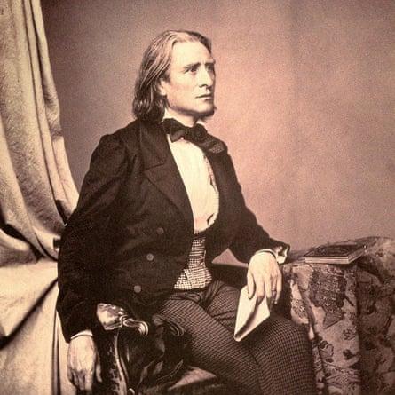 Franz Liszt, circa 1858.