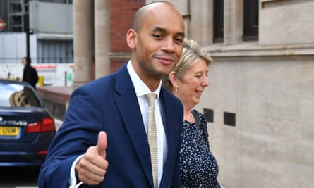 Chuka Umunna and Angela Smith of the Independent Group.