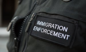 An immigration enforcement officer in London