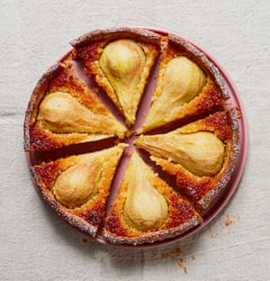 There will always be pears: Tamal Ray's honey and pear tart.