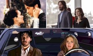 Keanu Reeves and Winona Ryder in Bram Stoker's Dracula, Destination Wedding and A Scanner Darkly.