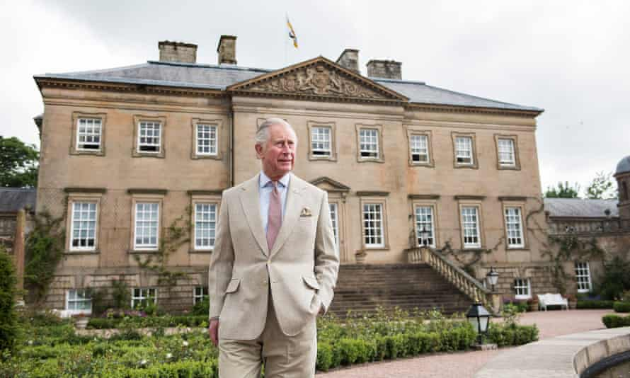 The Prince of Wales at Dumfries House, Scotland.