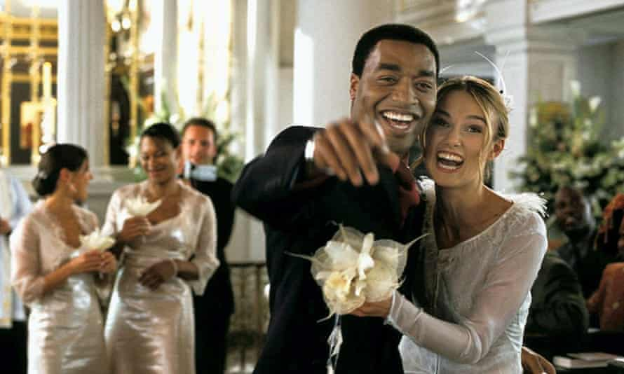 Chiwetel Ejiofor and Keira Knightley in Working Title's Love Actually (2003).