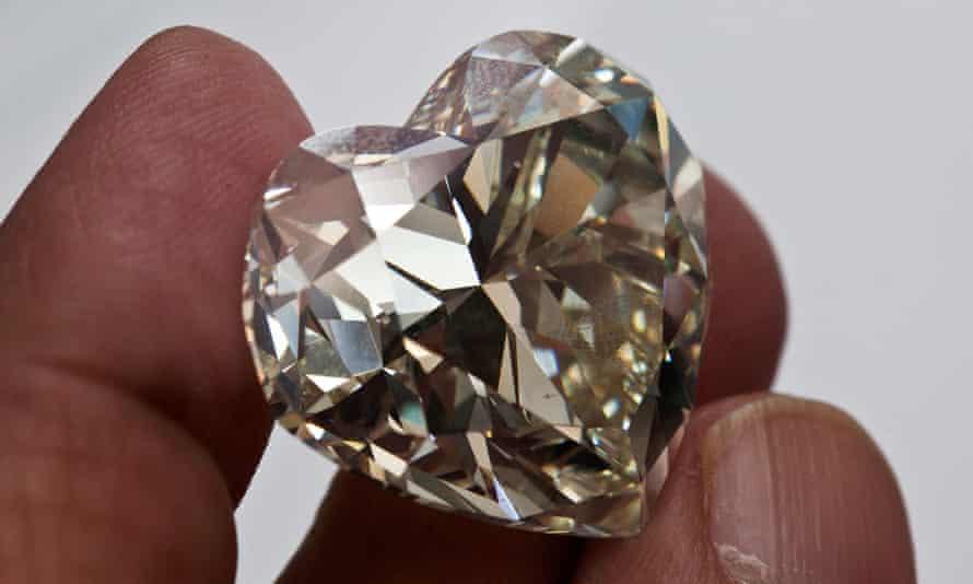 A heart-shaped diamond