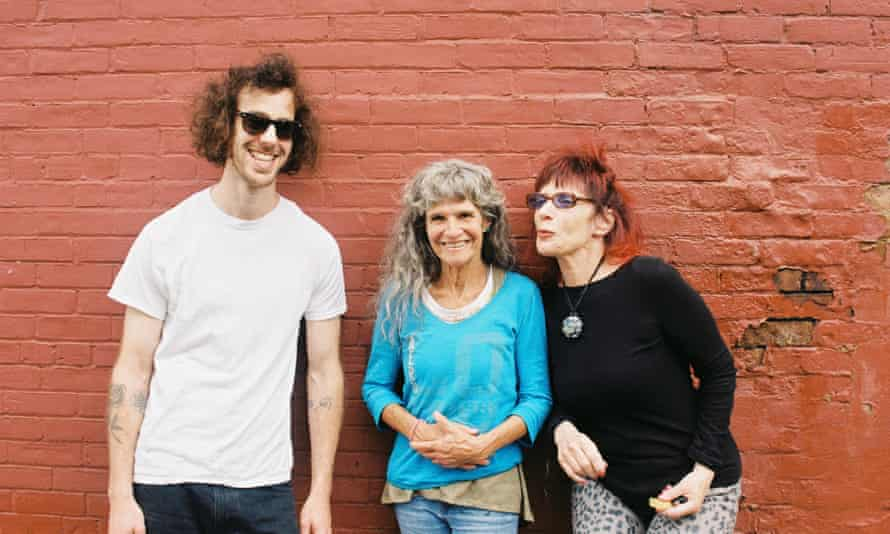 Kath Bloom, centre, with her band.