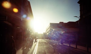 A sunny morning on Division Street, Sheffield.