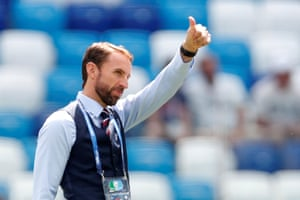 Southgate gives the thumbs up.
