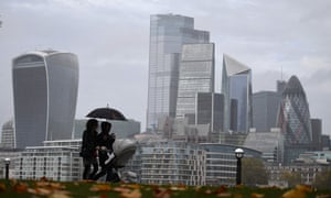 The office towers of the City of London, as England enters a second coronavirus lockdown
