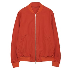 red bomber jacket Cos