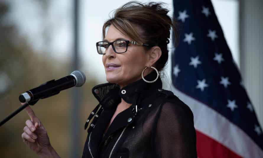 Sarah Palin stumps for Georgia's senate runoff election in Canton on 12 December 2020.