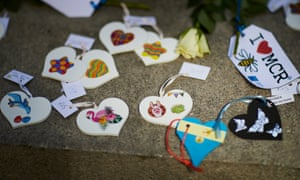 Hearts left at St Ann's church on the second anniversary of the Manchester Arena bombing