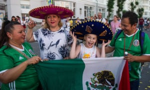 Mexico fans have arrived in Samara for their team's last-16 match against Brazil.