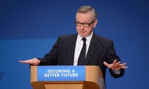 Michael Gove in EU campaign