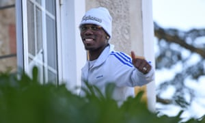 Paul Pogba arrives at Clairefontaine for training with France, who play Iceland on Thursday.