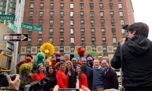 Opening of 'Sesame Street' in New York City.