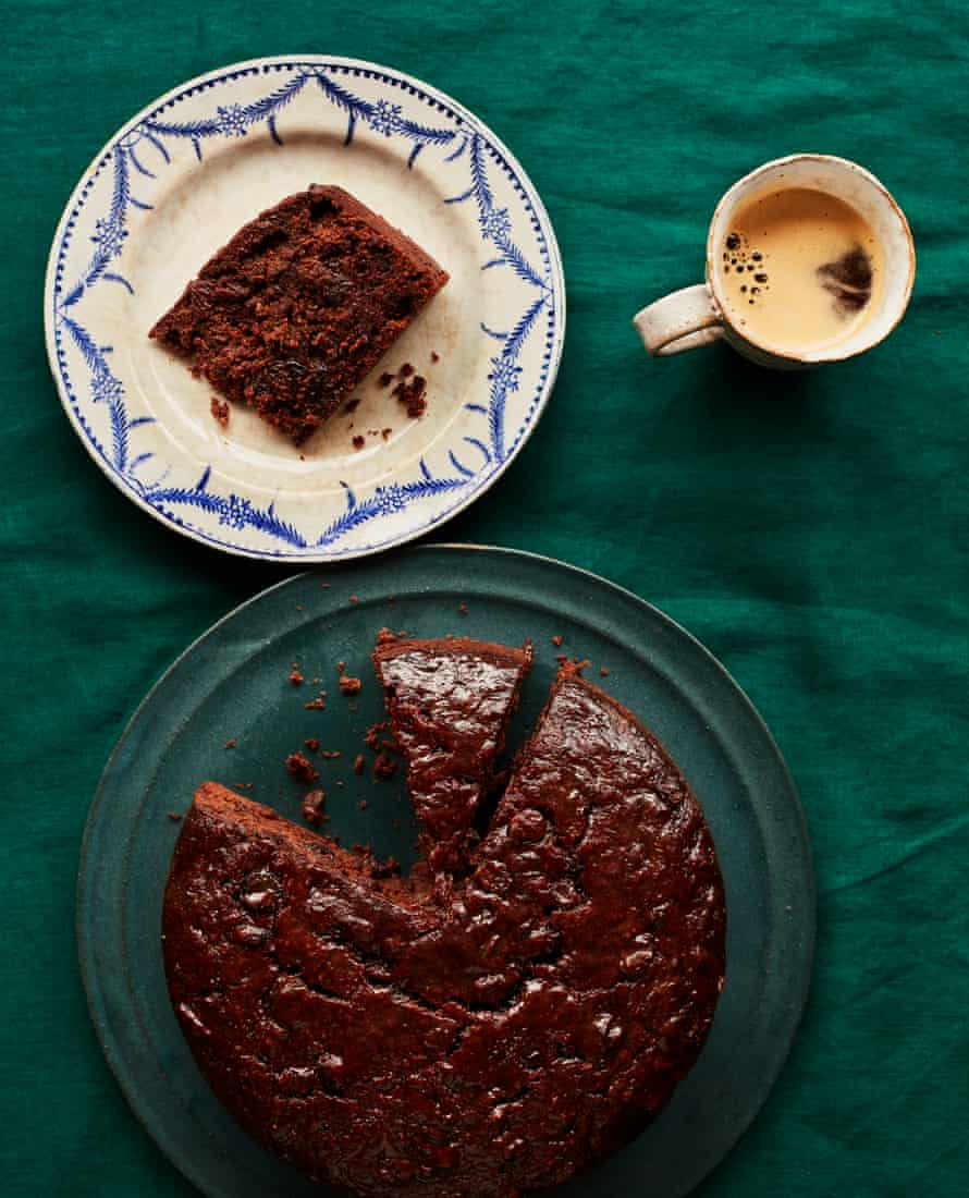 Start now! Benjamina Ebuehi's date and chocolate Christmas cake.