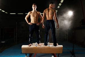 Members of the British Mens Gymnastics team, Max Whitlock and Louis Smith