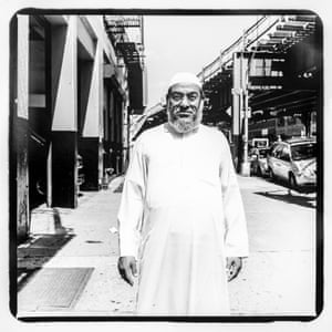 An Imam from the large Muslim community along Jerome Avenue