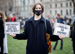 A man at the protest.