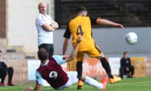 Sean Dyche watches on during a friendly against Port Vale on Saturday.