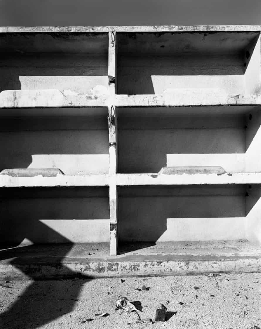 David Goldblatt's photograph of miners' bunks in an abandoned compound at the Simmer and Jack Gold Mine, Germiston, 1965