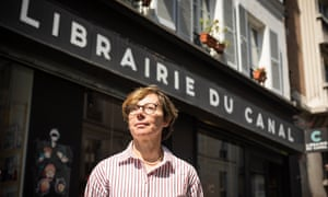 Sophie Fornairon in front of La Librairie du Canal