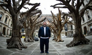 'Conceptual art humanised': Ai Weiwei with his work Tree at the Royal Academy in September.